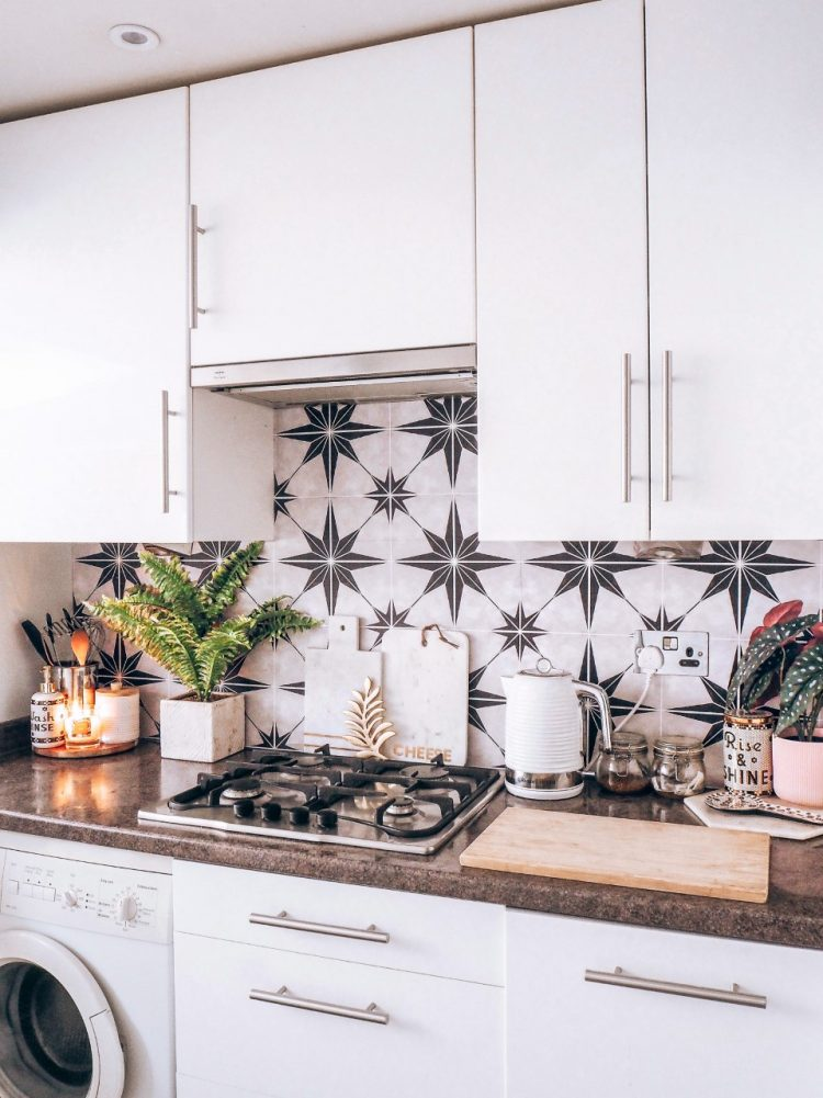 Transform Your Kitchen On A Budget Using Tile Stickers, Kitchen Update, Rental-Friendly Updates, DIY, Tile Stickers, Budget Decor, Budget-Friendly Updates, Budget-Friendly Decorating, Decorating on a budget